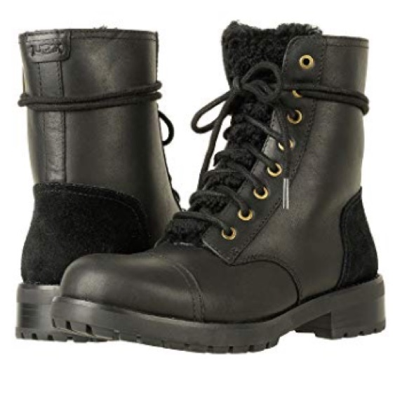 41f181f0a6f ❤️New Ugg Kilmer Exposed Fur Black boot 5.5 NWT